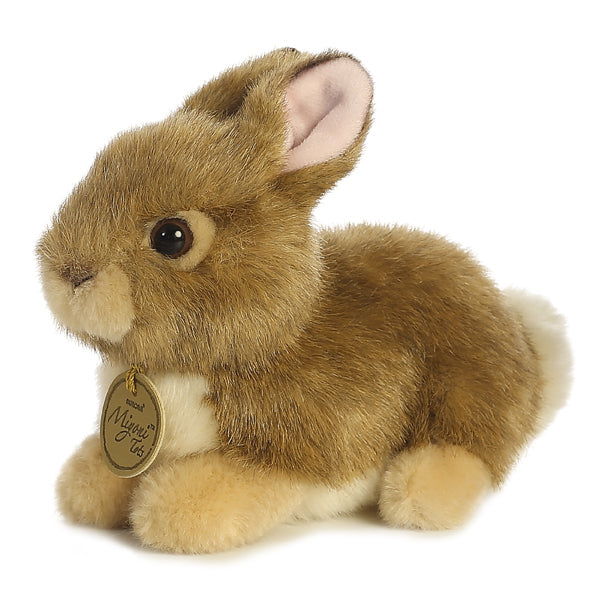 "7"" Baby Bunny - Tan Miyoni Aurora Plush Stuffed Animal"