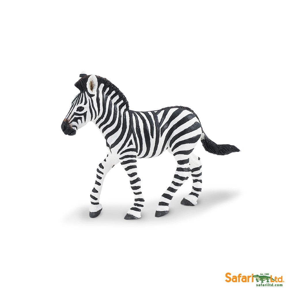 Wild Safari Wildlife Educational Painted Miniature Replica - Zebra Foal