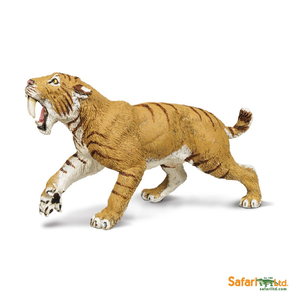 "Safari Ltd 4"" Wild Safari Painted Miniature Replica Figure - Smilodon"