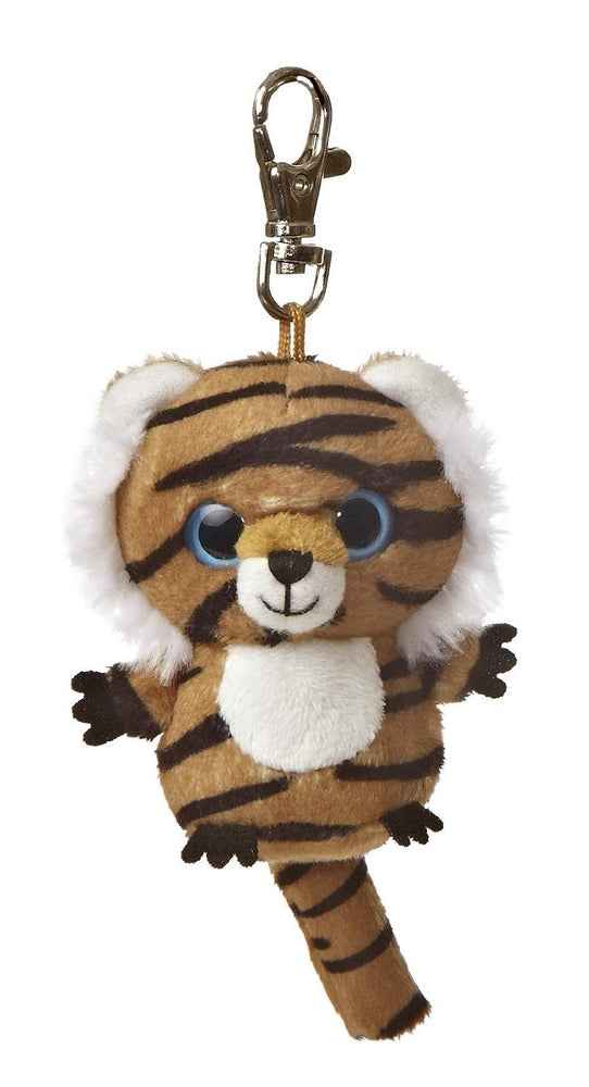 "3"" Jinxee Tiger Clip-On Keyclip Small Soft Plush Keychain"