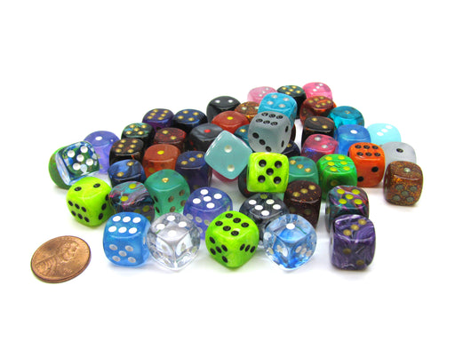 Bag of 50 Assorted Loose Signature 12mm D6 Dice
