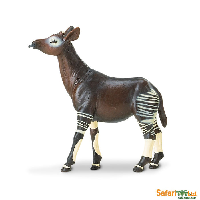 Wild Safari Wildlife Educational Painted Miniature Replica - Okapi