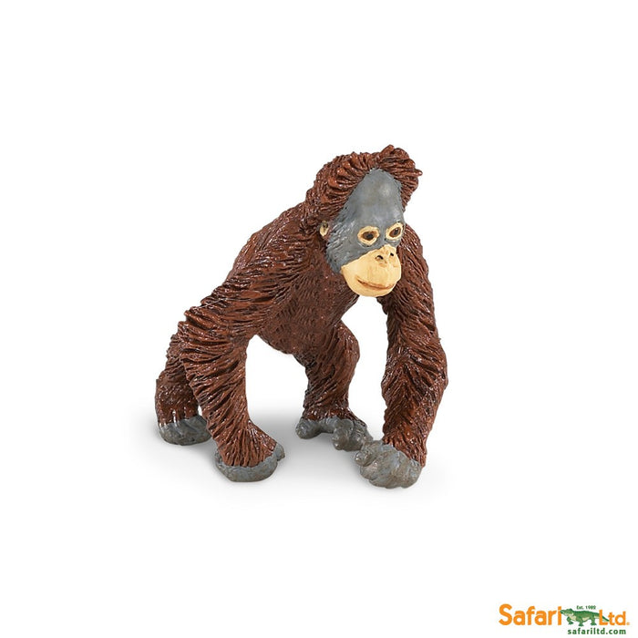 Wild Safari Wildlife Educational Painted Miniature Replica - Orangutan Baby