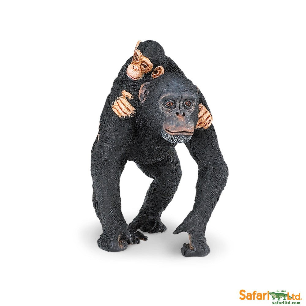 Safari Ltd 295929 Chimpanzee with Baby 7 cm Series Wild Animals