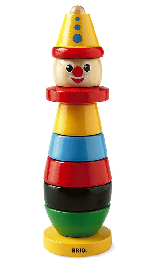 BRIO Wooden Stacking Clown - 9 Wood Pieces