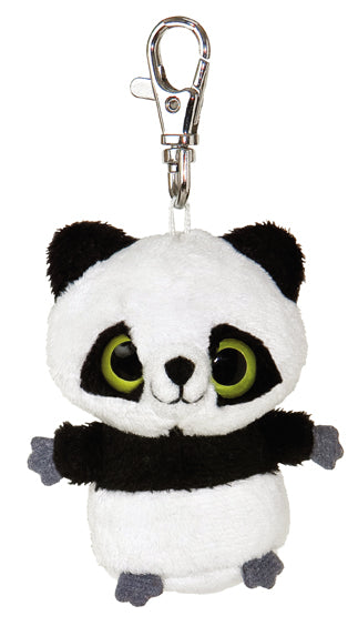 "3"" Ring Ring Panda Clip-On Keyclip Small Soft Plush Keychain"