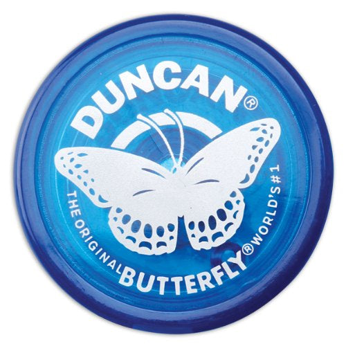 Duncan Original Butterfly YoYo - Beginner Wide Body Yo-Yo - Transparent Blue