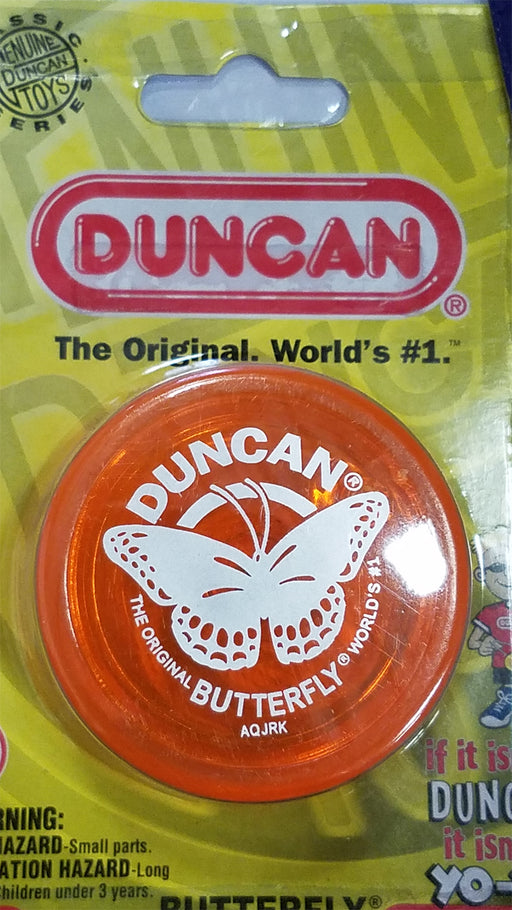 Duncan Original Butterfly YoYo - Beginner Wide Body Yo-Yo - Transparent Orange