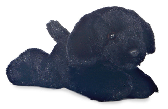 "Blackie Mini Flopsie 8"" Aurora Plush Black Lab Dog"