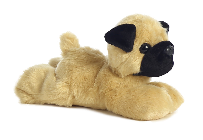 "8"" Mini Flopsie Mr.Pugster Pug Dog Soft Stuffed Animal Plush"