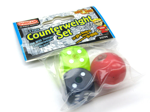 Duncan 3 Piece YoYo Counterweight Set - 2 Dice and 1 Ball