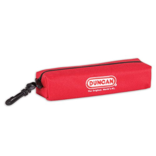 Duncan Yo-Yo Storage Pouch with Zipper and Clip - Red Pouch