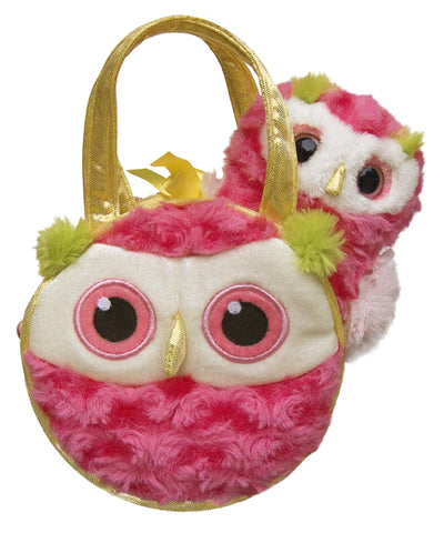 "7"" Whohoot Owl Pet Carrier Fancy Pal Purse Plush Stuffed Animal"