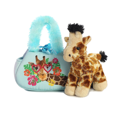 "7"" I See You Giraffe Pet Carrier Fancy Pal Purse Plush Stuffed Animal"