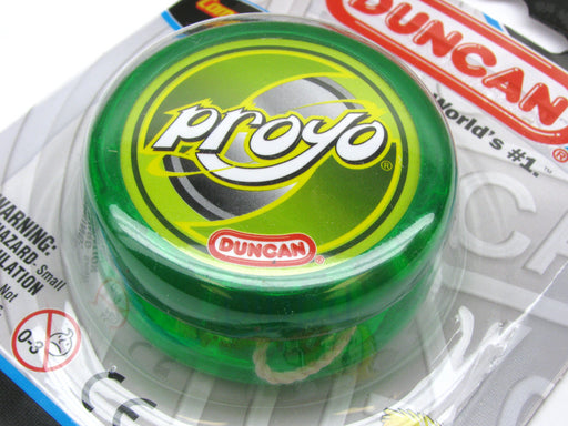 Duncan Proyo Beginner Rim-Weighted Competition Grade Yoyo - Transparent Green