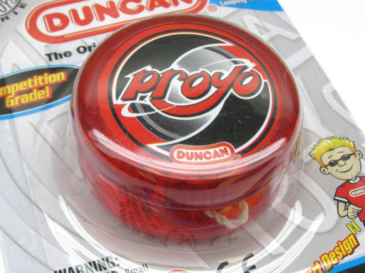 Duncan Proyo Beginner Rim-Weighted Competition Grade Yoyo - Transparent Red