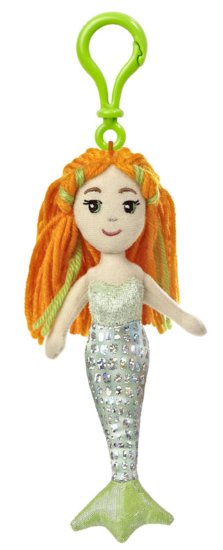 "6.5"" Merial Clip-Ons Sea Sparkles Mermaid Aurora Plush"