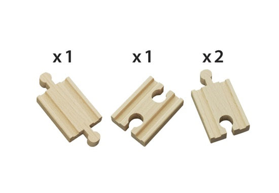 BRIO Wooden Mini-Straight Tracks 4 Pieces