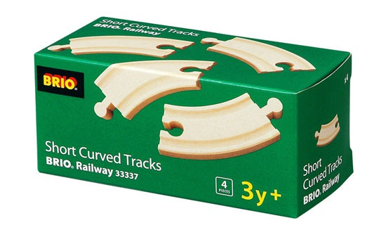 BRIO Wooden Short Curved Tracks 4 Pieces
