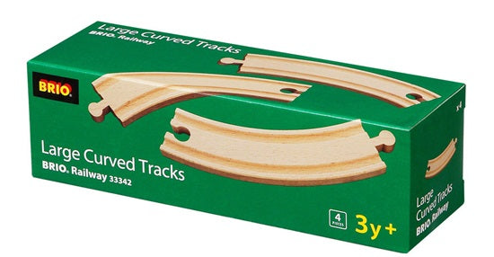 BRIO Wooden Large Curved Tracks 4 Pieces
