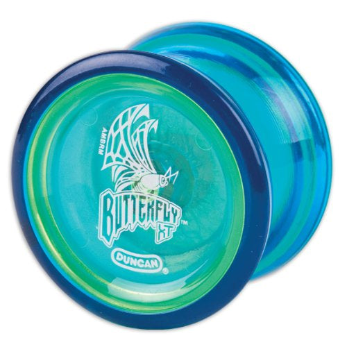 Duncan Butterfly XT YoYo with Ball Bearing Axle and Long Spin Time - Blue
