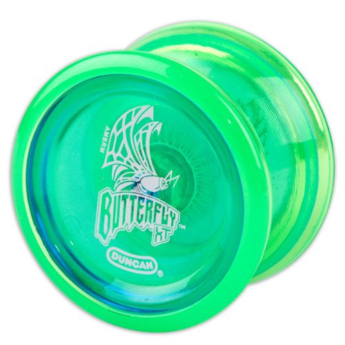 Duncan Butterfly XT YoYo with Ball Bearing Axle and Long Spin Time - Green