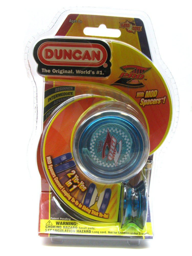 Duncan Pro Z YoYo with MOD Spacers - Transparent Blue Yo-Yo