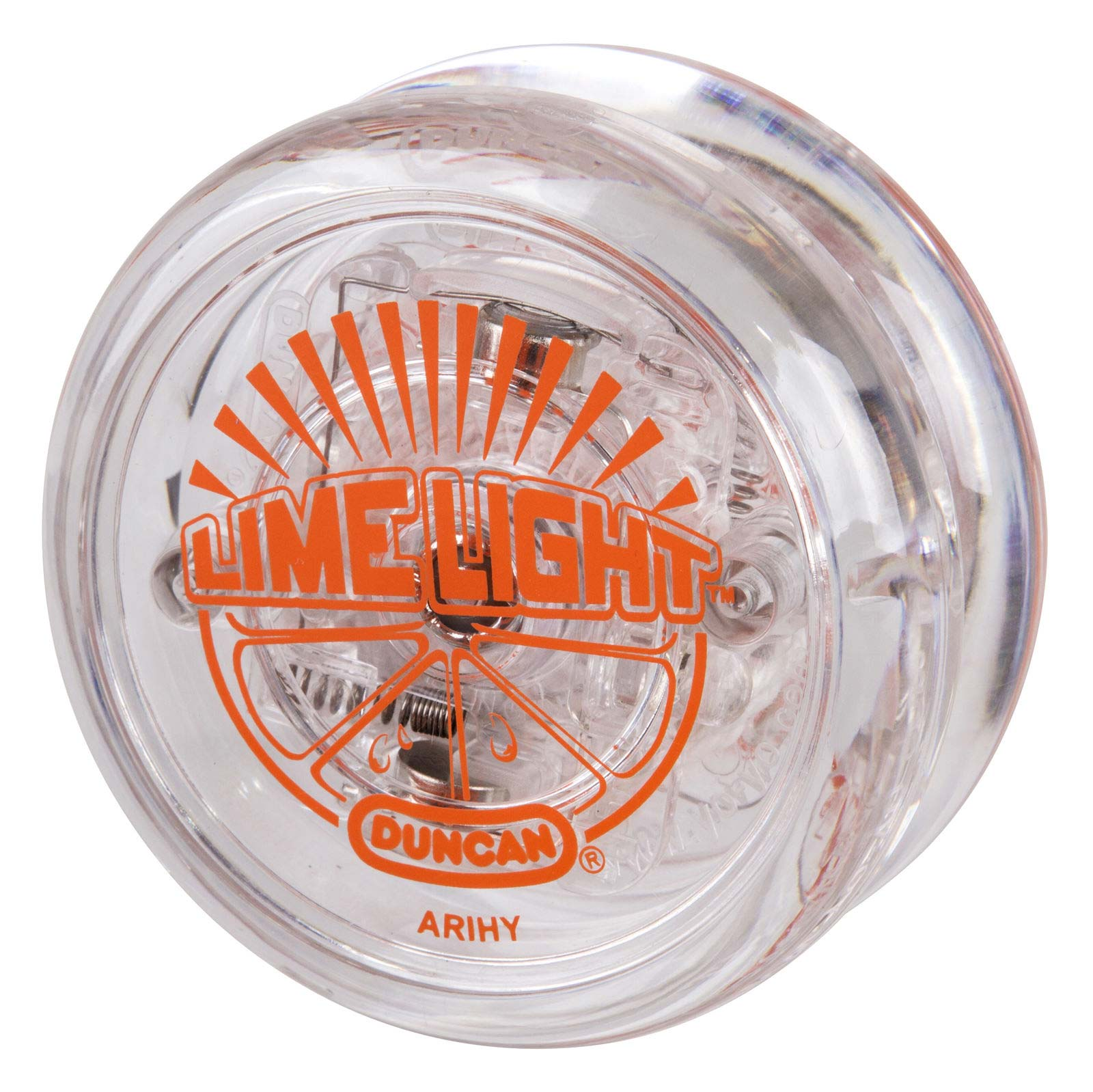 Duncan Lime Light Yo-Yo with LED Lights - Transparent Orange