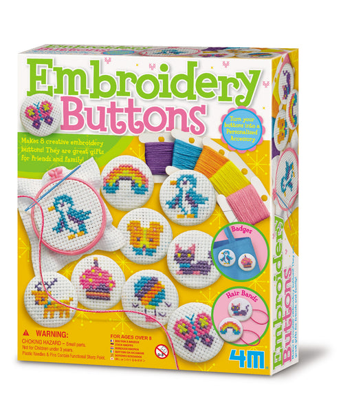 4M Embroidery Buttons Arts and Crafts Kit