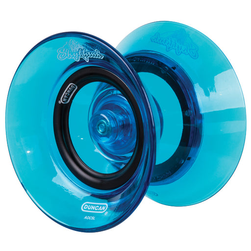 Duncan Skyhawk Advanced Wide-Body Plastic Yoyo - Transparent Blue