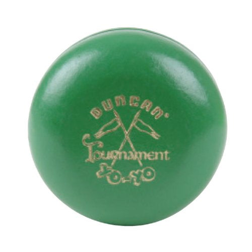 Duncan Wooden Crossed Flags Tournament Vintage-Replica YoYo - Green