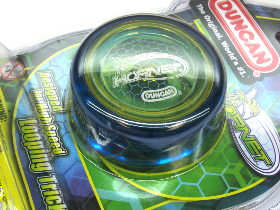 Duncan Hornet Looping Intermediate Yo-Yo - Transparent Blue-Yellow