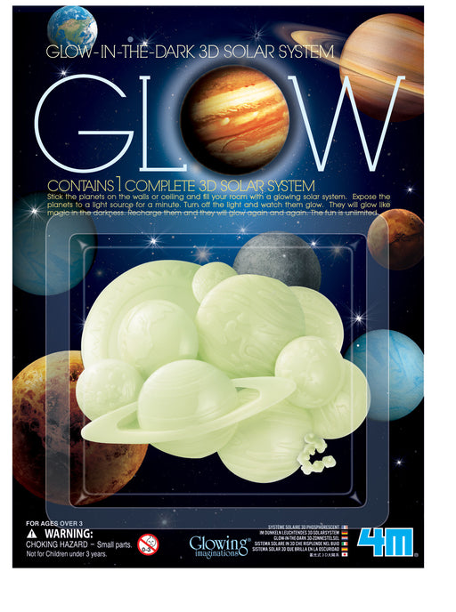 4M Glow-In-The-Dark 3D Solar System for Ceiling or Walls
