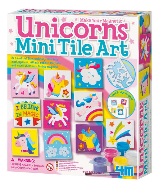 4M KidzLabs Unicorns Mini Tile Art Set