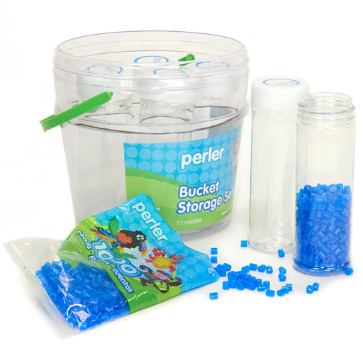 Perler Tall Cylinder Storage with Bucket Perler #80-22817 Craft Fuse Beading