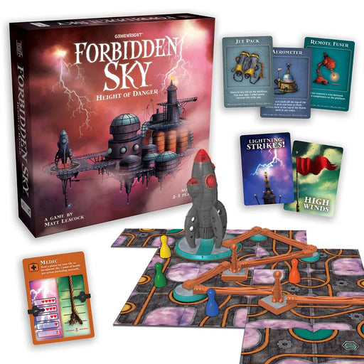 Forbidden Sky The Cooperative Strategy Survival Rocket Building Board Game