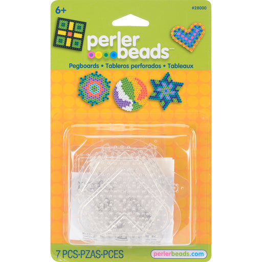 Perler Pegboards 5 in package - Assorted Clear Shapes Perler #2800 Craft Beading