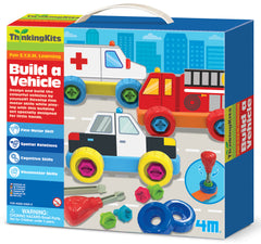 4M ThinkingKits STEM Learning Tool - Drill-To-Build Vehicles