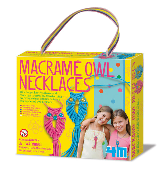 4M Create Your Own Macrame Owl Necklace Crafting Kit