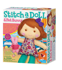 4M Stitch A Doll and Pet Bunny - Go Traveling Learn Crafting Kit
