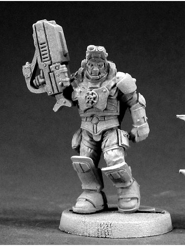 Reaper Miniatures Nick Stone, IMEF Squad Leader #50014 Chronoscope Mini Figure