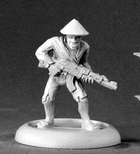 Reaper Miniatures Viet Cong Guerilla #50100 Chronoscope D&D RPG Mini Figure