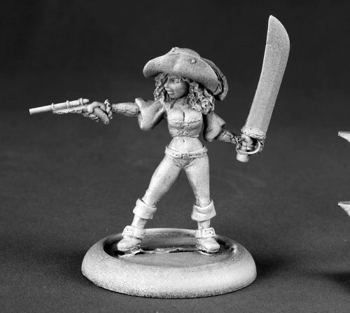 Reaper Miniatures Racquel Blackrose, Buccaneer #50134 Chronoscope Mini Figure