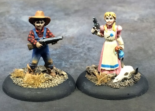 Reaper Miniatures Old West Kids (2) #50334 Chronoscope Unpainted RPG Mini Figure