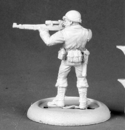 Reaper Miniatures Pfc. Max Dansworth #50338 Chronoscope Unpainted Metal Figure