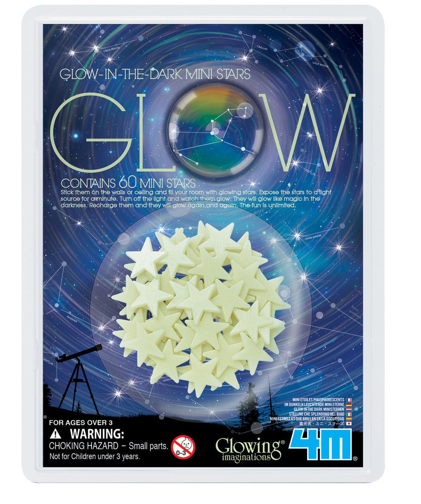 4M Glow-In-The-Dark 60 Mini Stars Childrens Room Décor