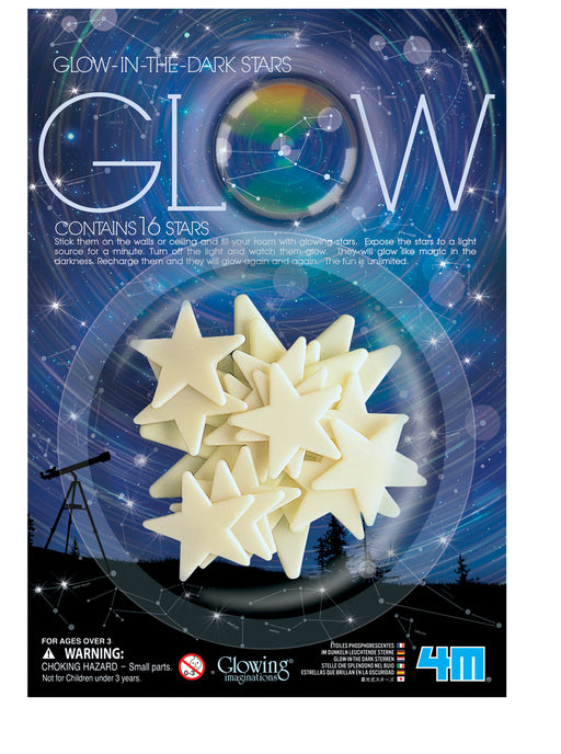 4M Glow-In-The-Dark 16 Stars Décor for Kits Room