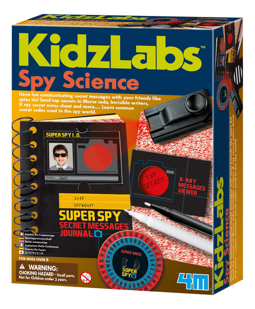 4M KidzLabs - Spy Science with Secret Message Viewer and Journal