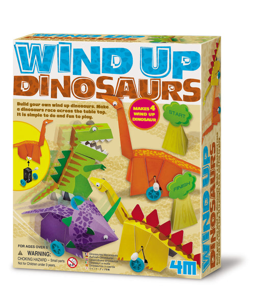 4M Build Your Own Wind Up Dinosaurs Kit