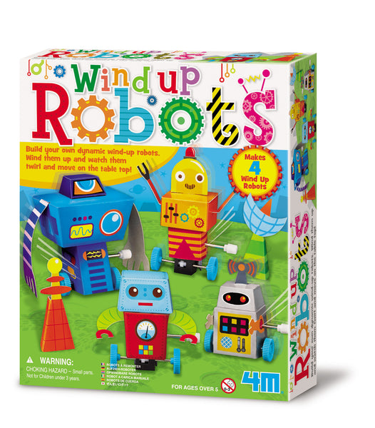 4M Build Your Own Wind Up Robots Kit